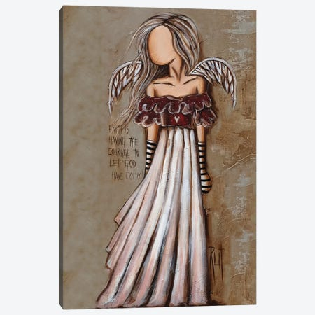Courage Canvas Print #RAC9} by Rut Art Creations Art Print