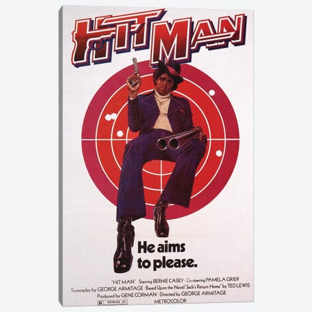 Hit Man Film Poster Canvas Print #RAD113} by Radio Days Canvas Artwork