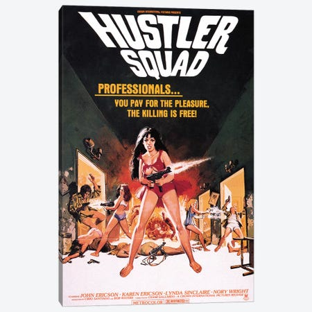 Hustler Squad Film Poster Canvas Print #RAD114} by Radio Days Canvas Art Print