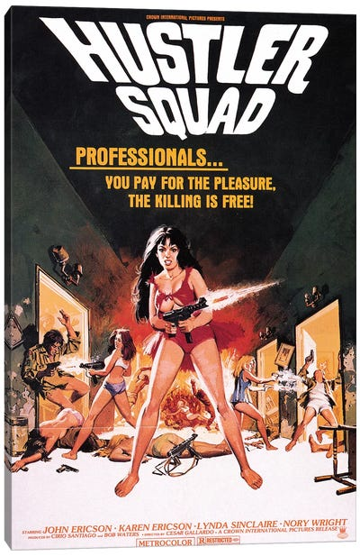 Hustler Squad Film Poster Canvas Art Print