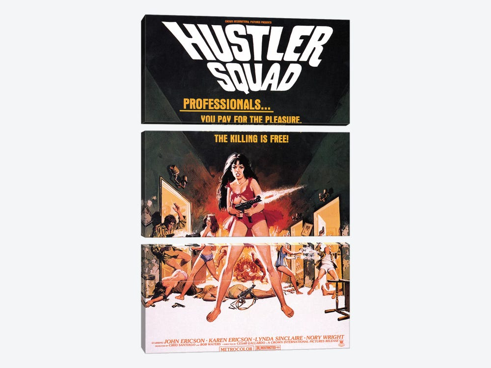 Hustler Squad Film Poster by Radio Days 3-piece Canvas Print