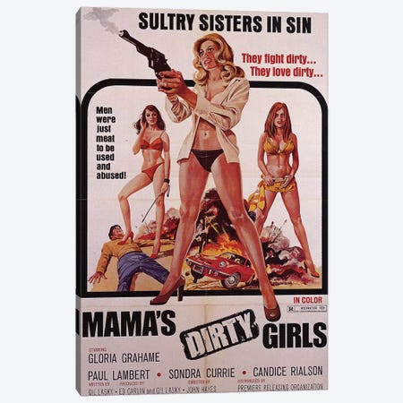 Mama's Dirty Girls Film Poster Canvas Print #RAD115} by Radio Days Canvas Art Print
