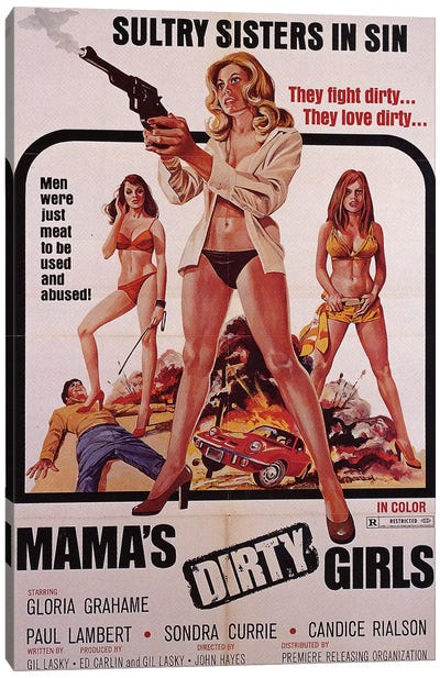 Mama's Dirty Girls Film Poster Canvas Art Print