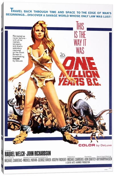 One Million Years B.C. Film Poster Canvas Art Print
