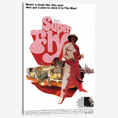 Super Fly Film Poster Canvas Print #RAD117} by Radio Days Canvas Print