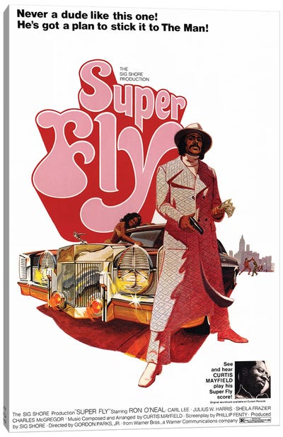 Super Fly Film Poster Canvas Art Print