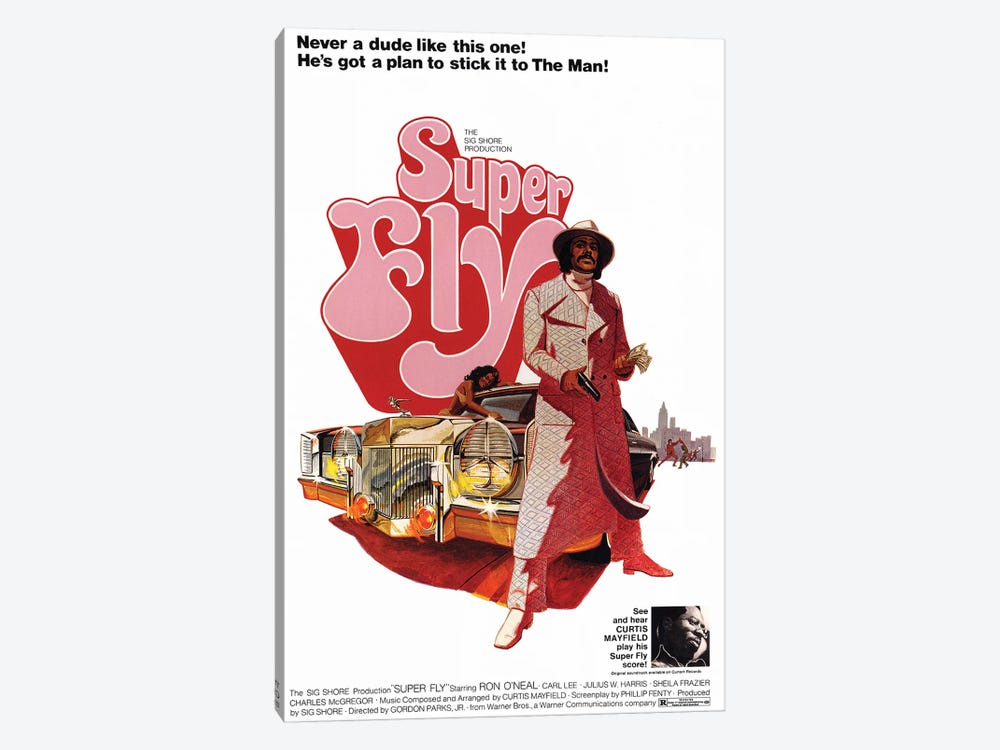 Super Fly Film Poster by Radio Days 1-piece Canvas Artwork