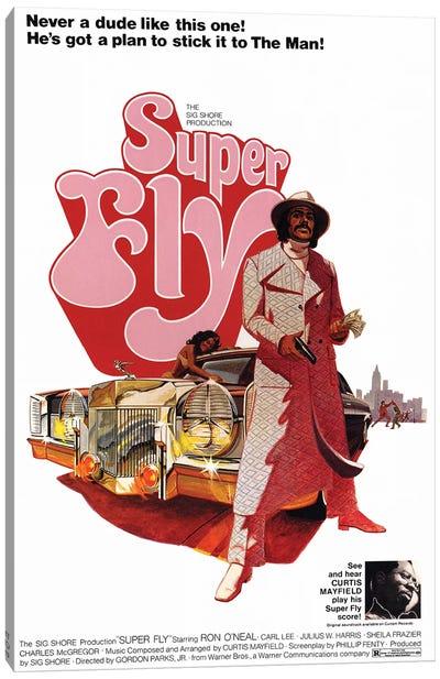 Super Fly Film Poster Canvas Art Print