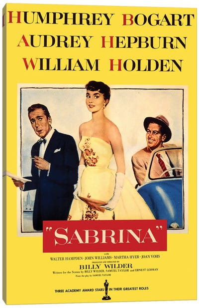 Sabrina Film Poster Canvas Art Print
