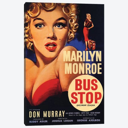 Bus Stop Film Poster Canvas Print #RAD121} by Radio Days Canvas Print