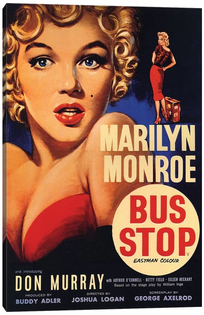 Bus Stop Film Poster Canvas Art Print