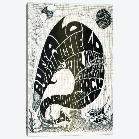 Vintage Big Fish Concerts Collage Canvas Print #RAD122} by Radio Days Art Print