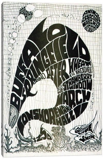 Vintage Big Fish Concerts Collage Canvas Art Print