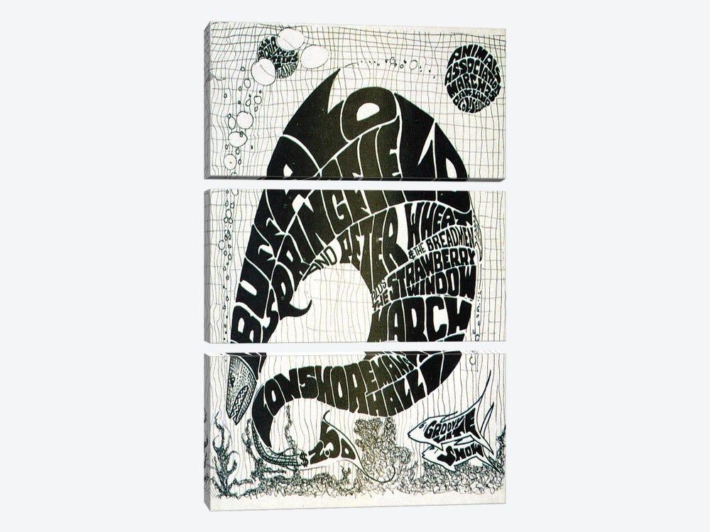 Vintage Big Fish Concerts Collage by Radio Days 3-piece Canvas Artwork