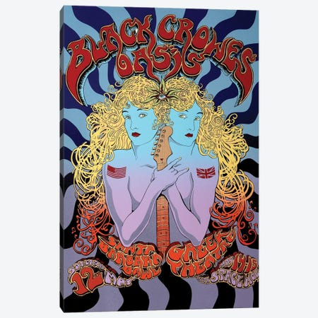 2001 Tour Of Brotherly Love (The Black Crowes, Oasis, Space Hog) Poster Canvas Print #RAD123} by Radio Days Canvas Art Print