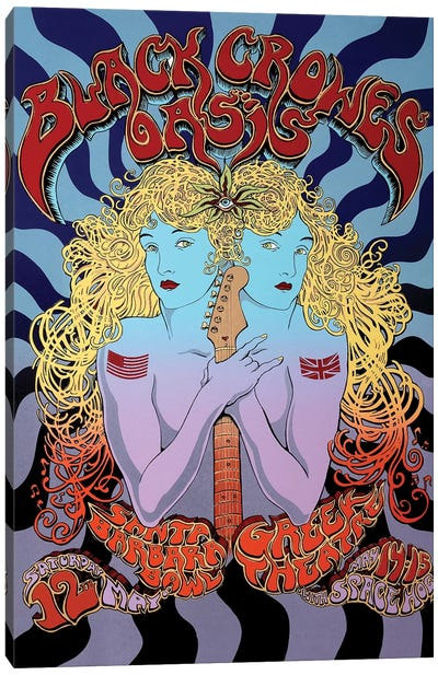 2001 Tour Of Brotherly Love (The Black Crowes, Oasis, Space Hog) Poster Canvas Art Print