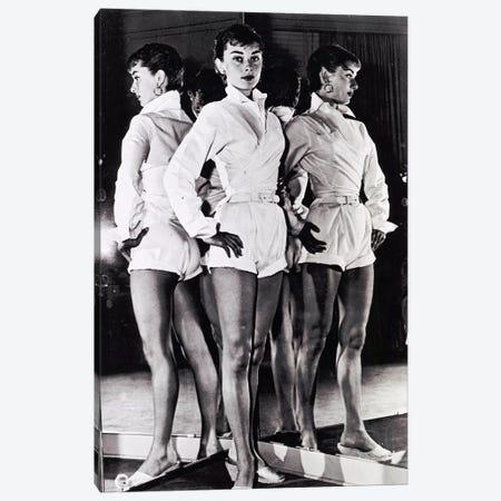 Audrey Hepburn In A White Romper Canvas Print #RAD12} by Radio Days Art Print