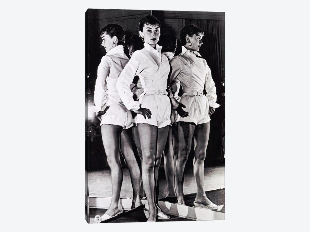 Audrey Hepburn In A White Romper by Radio Days 1-piece Canvas Print