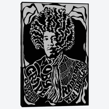 Jimi Hendrix Experience 1967 First U.S. Tour At Earl Warren Showgrounds Tribute Poster Canvas Print #RAD130} by Radio Days Canvas Artwork