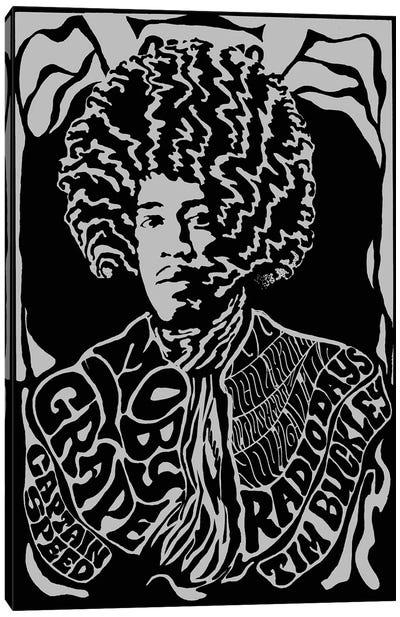 Jimi Hendrix Experience 1967 First U.S. Tour At Earl Warren Showgrounds Tribute Poster Canvas Art Print