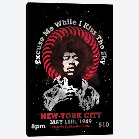 Jimi Hendrix Experience 1969 U.S. Tour At Madison Square Garden Tribute Poster Canvas Print #RAD131} by Radio Days Canvas Wall Art