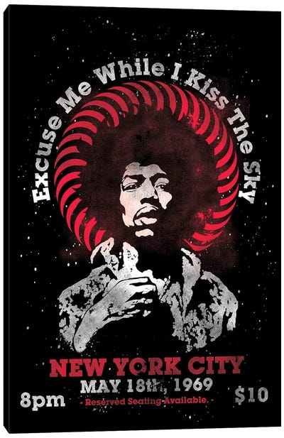 Jimi Hendrix Experience 1969 U.S. Tour At Madison Square Garden Tribute Poster Canvas Art Print