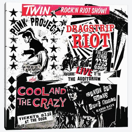 Dragstrip Riot & Cool And The Crazy Double Feature Tribute Poster Canvas Print #RAD132} by Radio Days Canvas Art