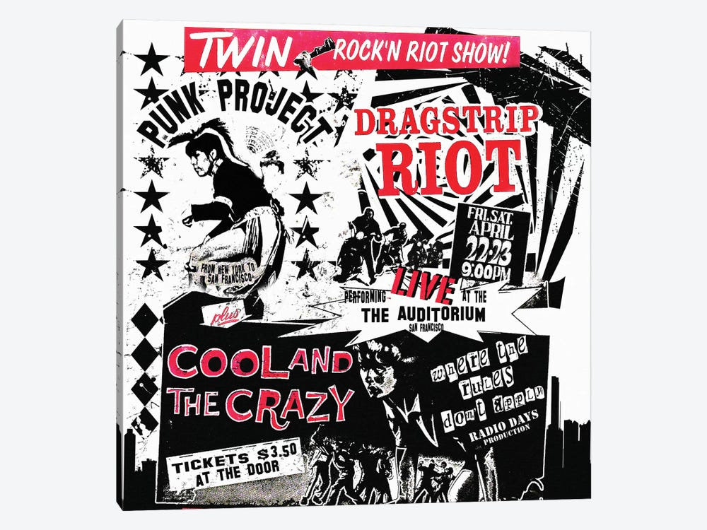 Dragstrip Riot & Cool And The Crazy Double Feature Tribute Poster by Radio Days 1-piece Art Print