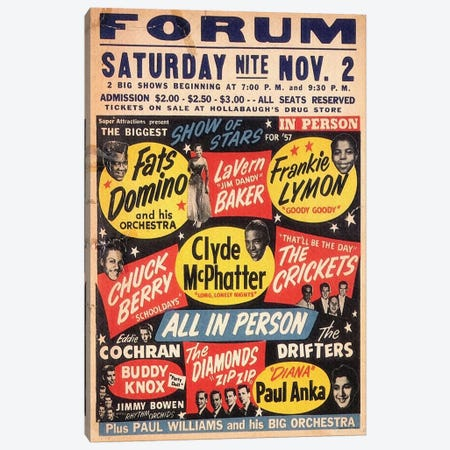 The Biggest Show Of Stars For '57 At The Forum Poster Canvas Print #RAD135} by Radio Days Canvas Print