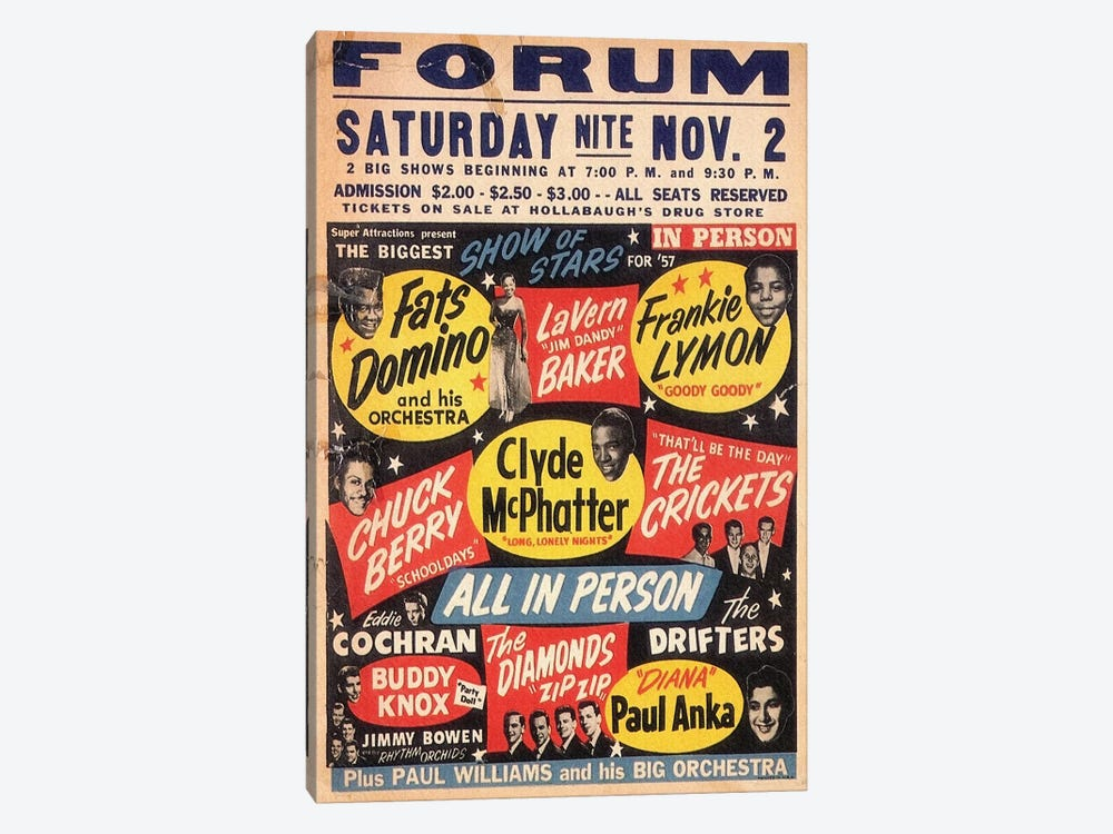 The Biggest Show Of Stars For '57 At The Forum Poster by Radio Days 1-piece Canvas Wall Art