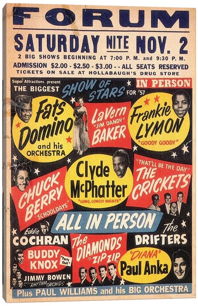 The Biggest Show Of Stars For '57 At The Forum Poster Canvas Art Print