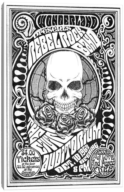 Rebel Rock Band Canvas Art Print