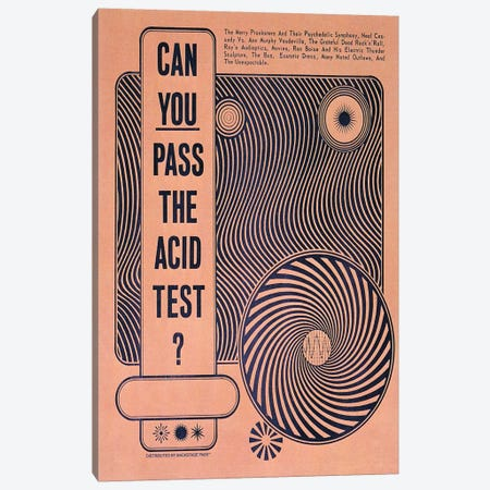 Acid Test Canvas Print #RAD138} by Radio Days Canvas Artwork