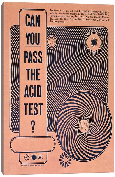Acid Test Canvas Art Print