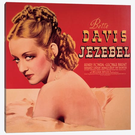 Jezebel Film Poster Canvas Print #RAD13} by Radio Days Art Print