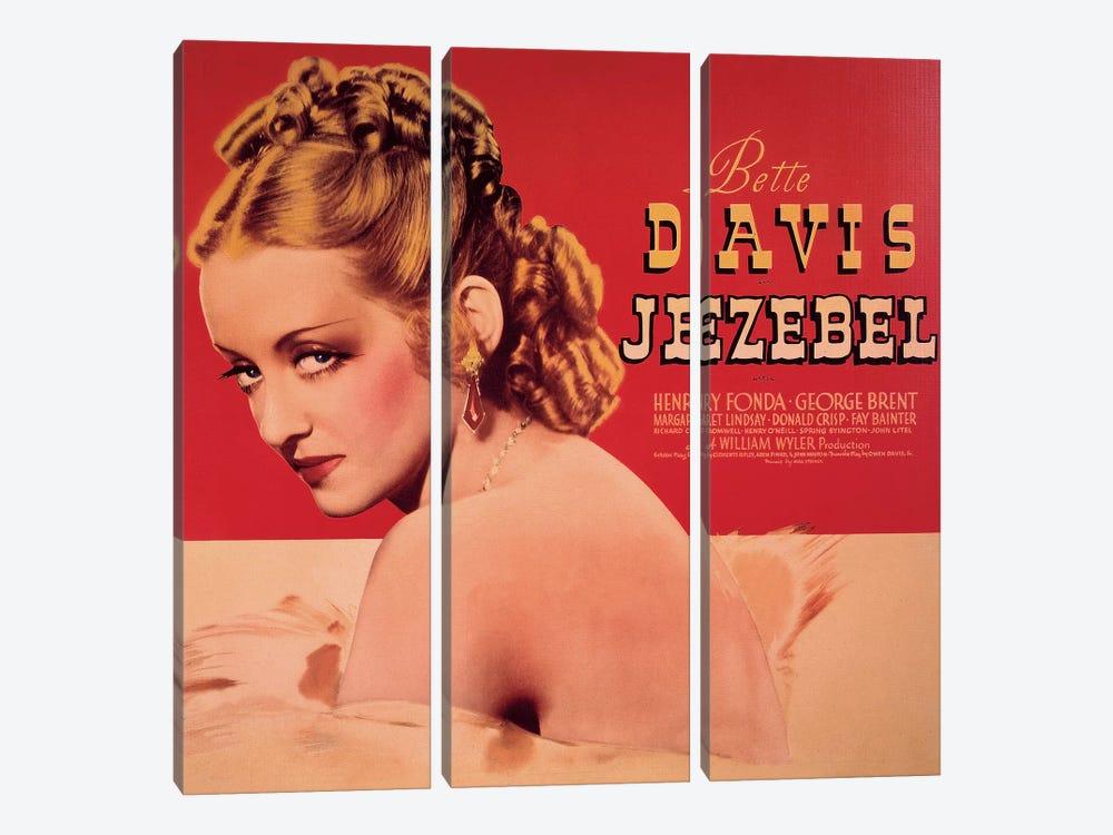 Jezebel Film Poster by Radio Days 3-piece Canvas Wall Art