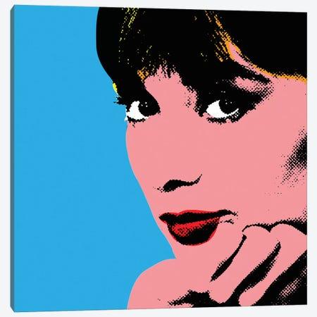 Audrey Hepburn Blue Dots Canvas Print #RAD143} by Radio Days Canvas Print
