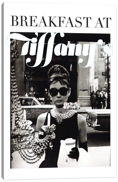 Audrey Hepburn Classic Tiffany's Canvas Art Print