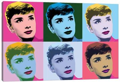 Audrey Hepburn Warhol Sabrina Canvas Art Print