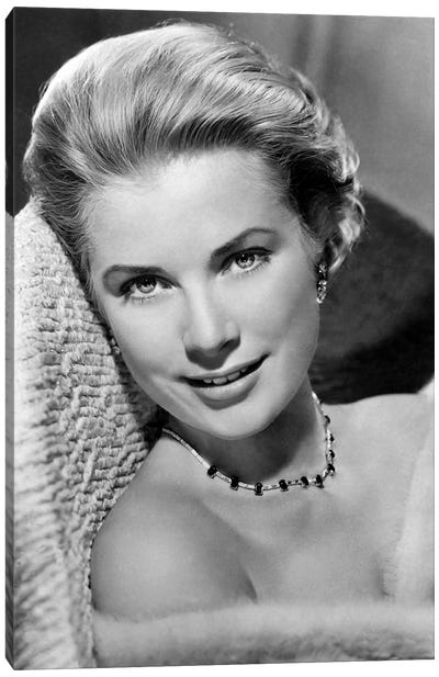 Grace Kelly In Pose by Radio Days Canvas Art Print