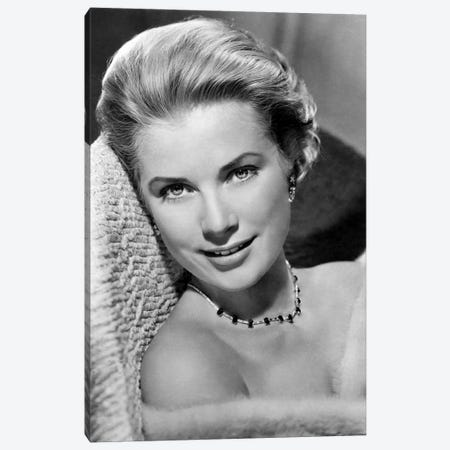 Grace Kelly In Pose Canvas Print #RAD14} by Radio Days Canvas Wall Art