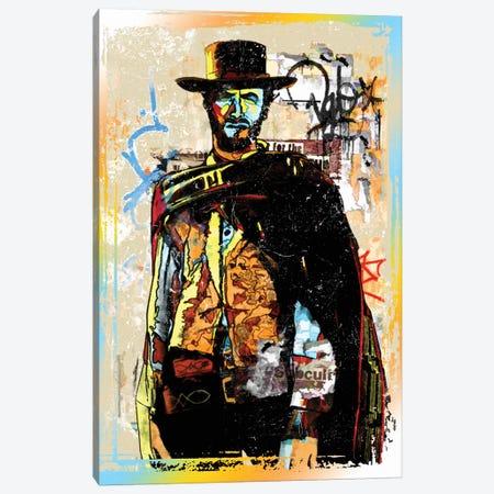 Clint Eastwood Graffiti Cowboy Canvas Print #RAD152} by Radio Days Canvas Art