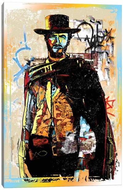 Clint Eastwood Graffiti Cowboy Canvas Art Print