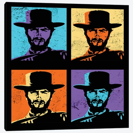 Clint Eastwood Multi Stamp Canvas Print #RAD153} by Radio Days Canvas Artwork