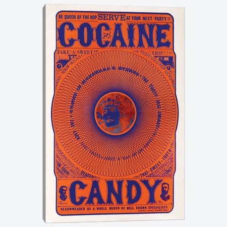 Cocaine Candy Canvas Print #RAD154} by Radio Days Art Print