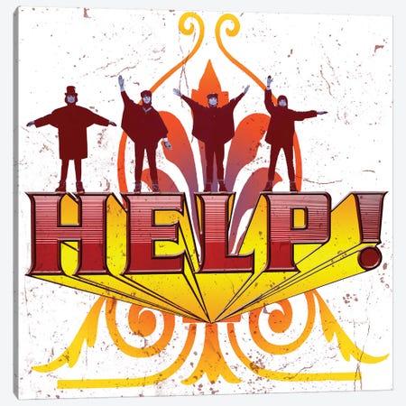 Fab 4 Help! Canvas Print #RAD156} by Radio Days Canvas Art Print