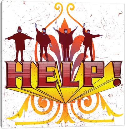 Fab 4 Help! Canvas Art Print