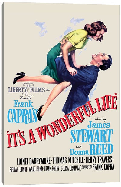 It's A Wonderful Life Movie Poster Canvas Art Print