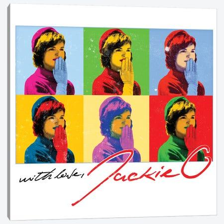 Jackie O Six Kisses Canvas Print #RAD159} by Radio Days Canvas Wall Art