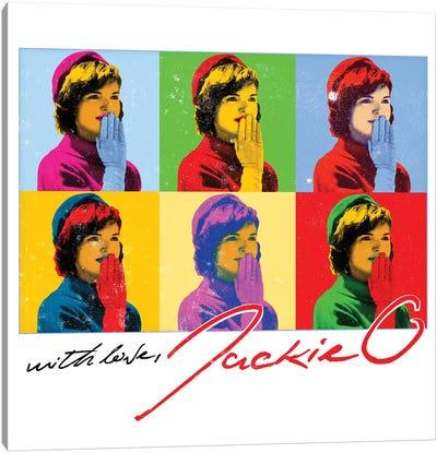 Jackie O Six Kisses Canvas Art Print
